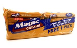 Magic Creams [Peanut Butter Cream Cracker Sandwich] by Jack n' Jill | Buy Online at the Asian Cookshop